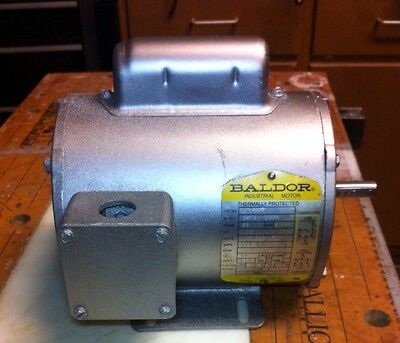BALDOR .25HP 1725RPM 1PH FR-48 ELECTRIC MOTOR 115/208-230 Volts