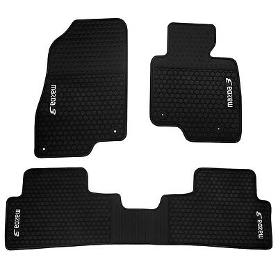 New Rubber Car Floor Mats Tailored For Mazda 3 Hatch / Sedan (2014 to 2018)