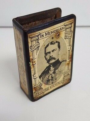 Earl Kitchener In Memoriam vintage collectable metal matchbox cover