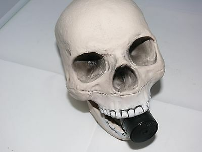 GEOCACHE Container:- Ready to hide full size skull with Waterproof logbook