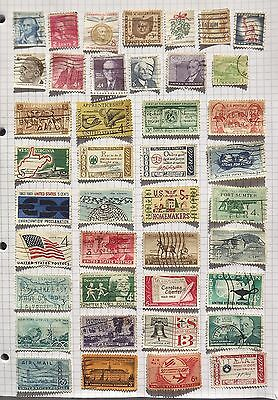 USA. Collection of 41 stamps.      G