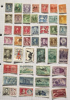 USA. Collection of 46 stamps.      E