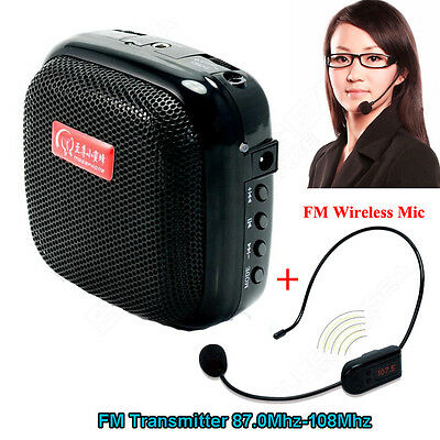 Mini Portable Voice Amplifier with Wireless Headset Mic For Teacher Coach Guider