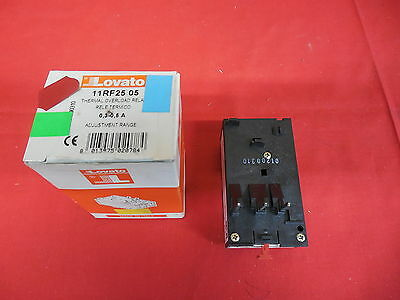 Lovato 11Rf25 05 Thermal Overload Relay .3-.5A *nib* (3B1)
