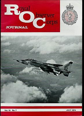 1970s  ROYAL OBSERVER CORPS JOURNAL;   PLANES, FEATURES, etc.