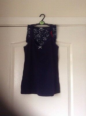 BNWT M&S Vest And Brief Set, Navy Blue, Size 12