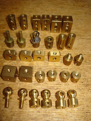 BRASS PARTS SELECTION, for MECCANO, ERECTOR, METALLUS, etc.