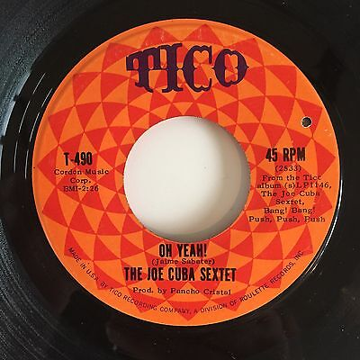 "Joe Cuba Sextet - Oh Yeah / Sock It To Me 7"" Top 60s Latin Boogaloo Soul Dancer"