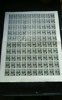 Nigeria / Biafra 1967 Sheet Of 100 X Four Pence Arms & Flag Stamps
