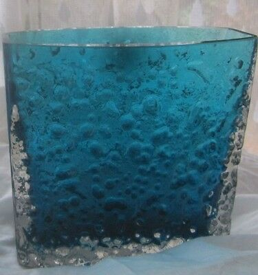 Kingfisher Blue Whitefriars Glass Vase