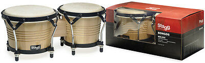 Stagg BW-200-N 6,5 Zoll + 7,5 Zoll Latin Bongos Holzkessel