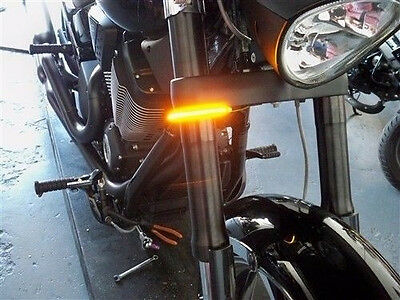 Yamaha Stryker '11-16 Razor Fork Mount LED Turn Signals - 41mm