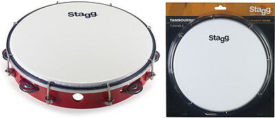 Stagg TAB-110P/RD 10 Zoll stimmbares Kunststoff Tambourin