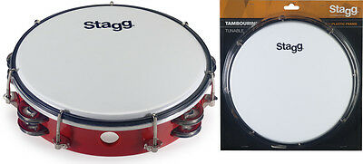 Stagg TAB-208P/RD 8 Zoll stimmbares Kunststoff Tambourin
