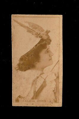 "Kinney 1886 Superb Photo (Actress) Card "" Elvia Crox -- Photographic Card """