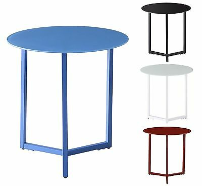 Round Side End Table Coffee Table Black Red Blue White Bedside Lamp Table New