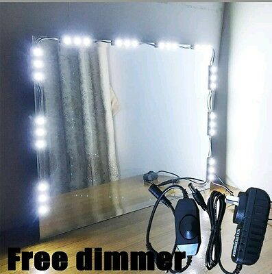 Hollywood Lighted Makeup Mirror LED light kit with Dimmer Vanity light 5ft