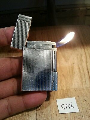 Rare St dupont pipe lighter 56 ~ Ligne 2 small silver plated , serviced & grte