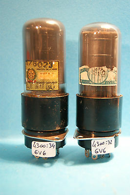 Coppia Vintage  6V6GT FIVRE Made in Italy  Tube  Rohre  valve