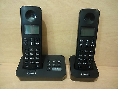 Philips D205 Twin Cordless Digital Telephone DECT with Answering Machine -BX