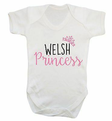 Welsh princess baby vest Welsh Wales St David's Day fairy tail cute gift  3127
