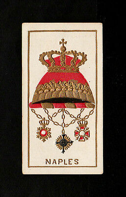 "Kimball 1888 Scarce ( Arms ) Type Card """"  Naples -- Arms Of Dominions  """""