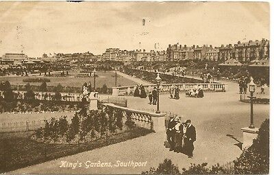 King's Gardens SOUTHPORT Lancashire 1920 PC