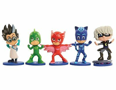 PJ MASKS Collectible FIGURES 5 Pack Catboy Owlette Gekko Luna Girl Romeo uk sell
