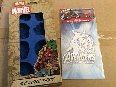 Avengers bundle - ice cube tray and car decal