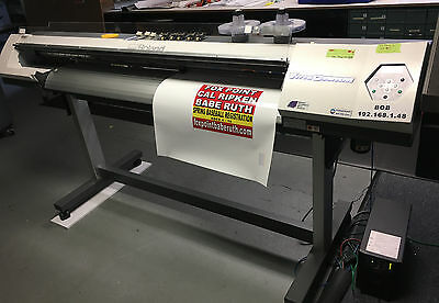 ROLAND SP540i VERSACAMM TURN KEY ECO SOLVENT PRINTER/CUTTER &  ROTARY CUTTER