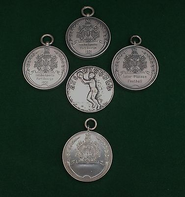5. King's Own Scottish Borderers. Silver Hallmarked Sport's Medalions. 1931-1932