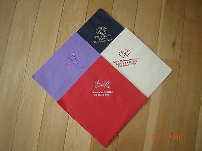 PERSONALISED PRINTED NAPKINS 50 QUALITY  3PLY  DINNER SIZE 39cm