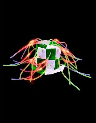 St Patricks Day Green & White Light Up Tentacle Costume Top Hat