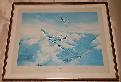 SPITFIRE print 1st ed by Robert Taylor signed by Douglas Bader & Johnnie Johnson