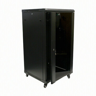 22U Wall Mount Network Server Cabinet Rack Enclosure Glass Door Lock 600MM Deep
