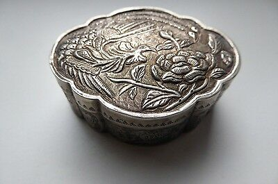 Old Chinese Medicine Silver Box