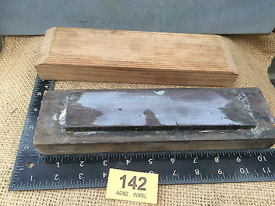 vintage Natural sharpening stone  oilstone razor hone old tool 142
