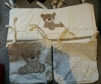 Mothercare Loved so much cot bumper and cot pockets