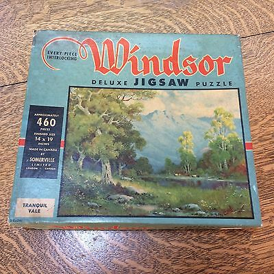 Windsor Jig Saw Puzzle 460 pc Vintage Sommerville London Canada Tranquil Vale