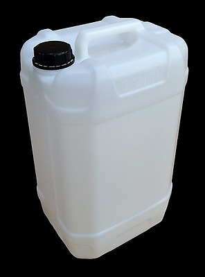 6 Clean 25L Litre Plastic Water Container Carrier Food Drum Gerry Jerrican