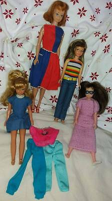 vintage 1960s barbie dolls lot