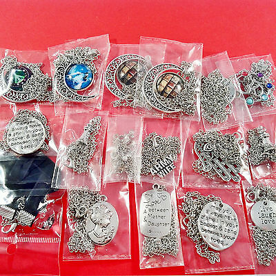17pcs PRETTY MIXED NECKLACES - assorted wholesale job lot ideal for car boot