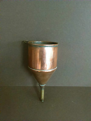 Vintage small copper funnel sieve
