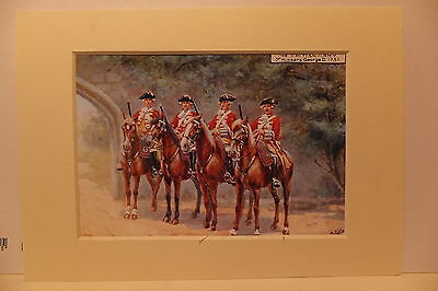 Third Hussars Cavalry Reprint Of Old Postcard
