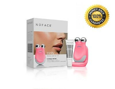 Full Size NUFACE Trinity Facial Skin Toning Device Face Lift Anti aging... Pink