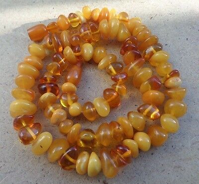 Genuine Baltic Amber Old necklace beads Rare Round natural vintage 38 g.