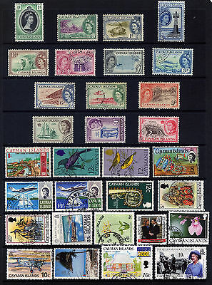 CAYMAN ISLANDS 31 STAMPS FROM 1953 MINT OR USED: See Scan