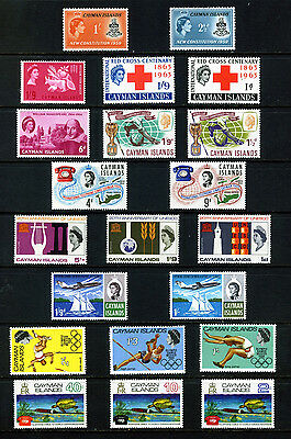 Cayman Islands 10 Unmounted Mint/mnh Sets 1959 -1972: See Scan & List
