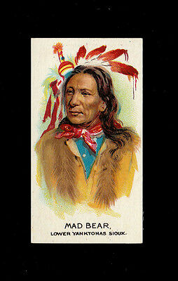 "B.a.t 1930 Scarce (Wild West Indian) Type Card "" # 38 Mad Bear - Indian Chiefs """