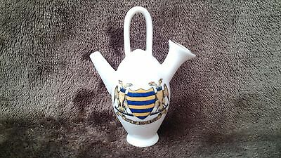 Goss Model of Salisbury Kettle with Matching Arms Crested China